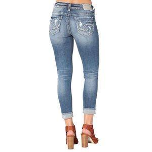 Silver Jeans Francis Capri sz 28